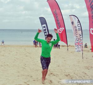 Andy finishing at Carbis 2014