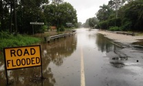 Drove towards Cyclone Marcia, torrential downpour and cars sliding off the roads. The main highway was nearly flooded just North of Brisbane as we went through. It was closed 2 hours after that!!!