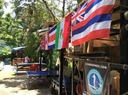 Flags flying at Standup Sayulita, shared the love-helped and supported us all