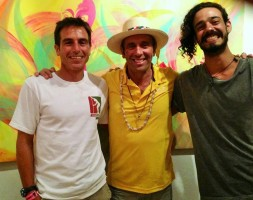 Me, Fernando-ISA president and Mojo-local artist.
