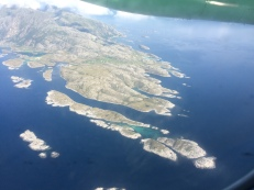 great views from the flight to Lofotens